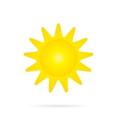 Yellow sun icon vector