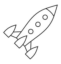 Aircraft rocket icon outline style vector