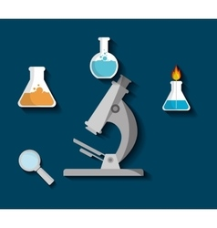 Science chemistry laboratory vector