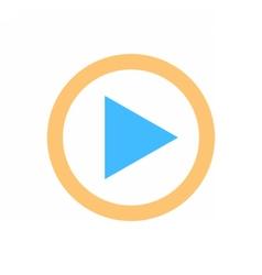 Arrow sign direction icon play circle button vector