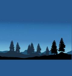 Nature landscape silhouette vector