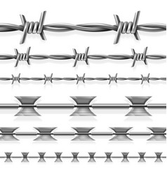 Safety steel barbed and razor wire seamless vector