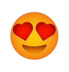 Love emoji face love emotion icon vector