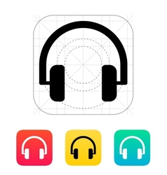 Audio headphones icon vector