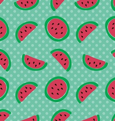 Watermelon slice seamless pattern vector