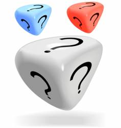 mystery dice vector image
