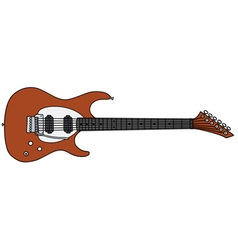 Red electric guitar vector