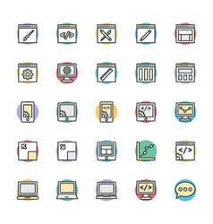 Design and development cool icons 1 vector