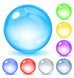 Opaque spheres vector image