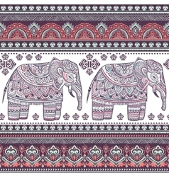 Ethnic indian bohemian style elephant seamless vector