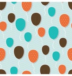 Retro pattern balloons vector