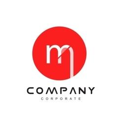 Alphabet letter m logo icon design vector image vector image