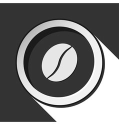 black icon with coffee bean and stylized shadow vector image
