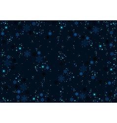 Blue christmas pattern vector