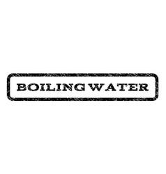 Boiling water watermark stamp vector