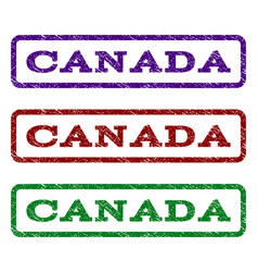 canada watermark stamp vector image