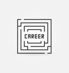 Career labyrinth icon vector