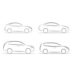 cartoon silhouette of a car vector image vector image