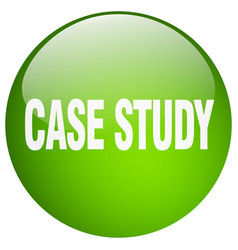 Case study green round gel isolated push button vector