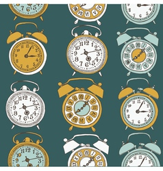 clock drawing seamless vector image vector image