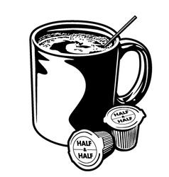 Coffee Mug and Creamer Cups vector image
