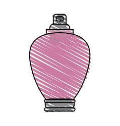 Color crayon stripe cartoon bottle fragrance vector