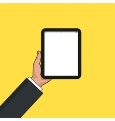 Digital tablet in businessman hands Hands using vector image