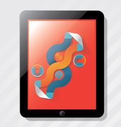 elements info graphics ipad vector image vector image