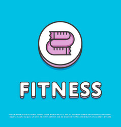 fitness colour icon with measuring tape vector image