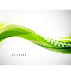 flowing wave line background vector image