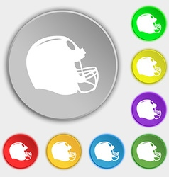 football helmet icon sign Symbol on eight flat vector image vector image