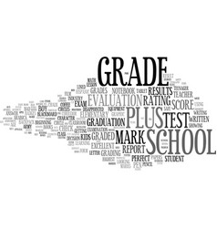 Grade word cloud concept vector