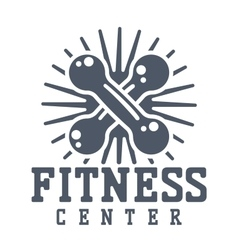 Gym fitness logo badge vector image