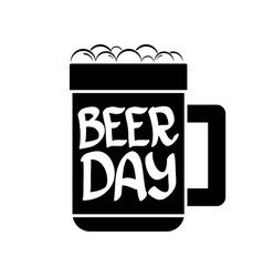 happy beer day graphic poster vector image vector image