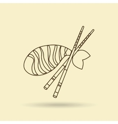 japanese food design vector image