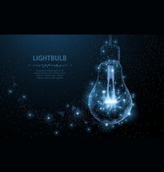 Lightbulb polygonal mesh art looks like vector