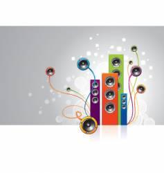 Loudspeakers garden vector