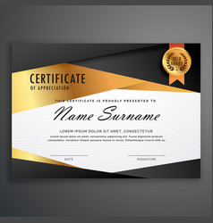 luxury certificate design template made with vector image vector image