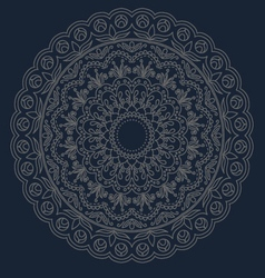Mandala Round Ornament Pattern vector image
