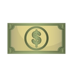 Money billet isolated flat design vector