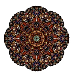 Most mandala consisting of complex elements drawn vector