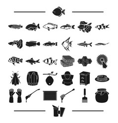 Nature torres fishing and other web icon in vector
