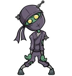 Ninja zombie vector