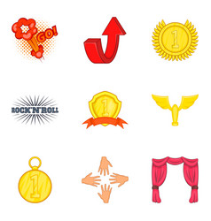 Prosperous icons set cartoon style vector