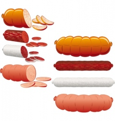 sausage collection vector image
