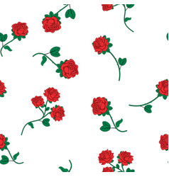 Seamless wallpaper wild roses vector