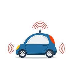 Self driving car isolated vector image