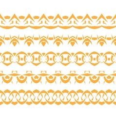 Set border vector image