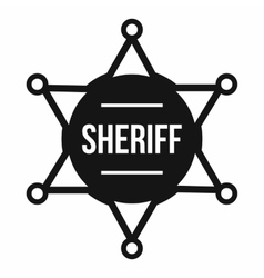 Sheriff badge icon simple style vector image