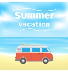 summer surf vacations vector image vector image